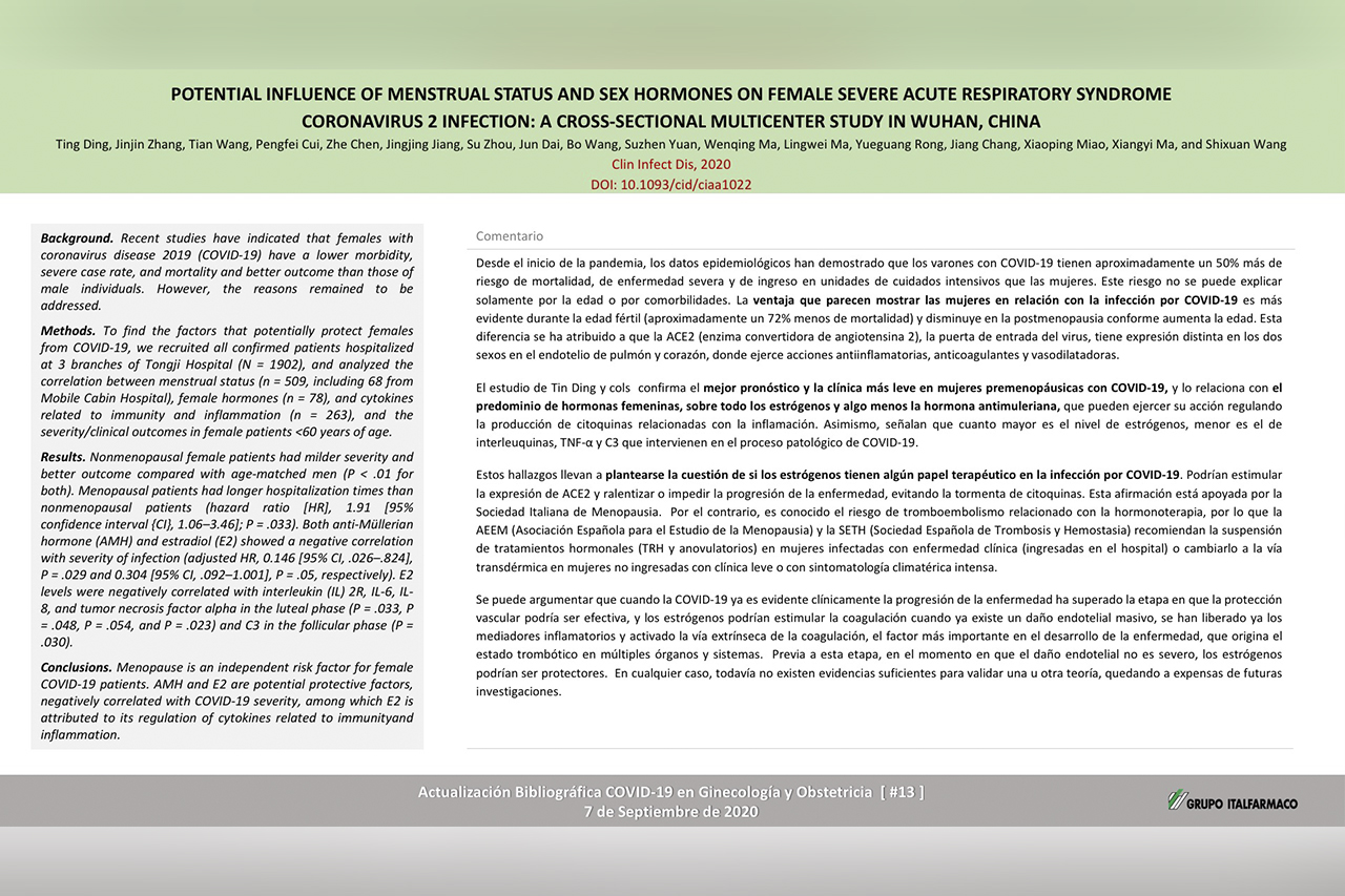 Potential influence of menstrual status and sex hormones on female severe acute respiratory syndrome Coronavirus 2 infection: A cross-sectional multicenter study in wuhan, china